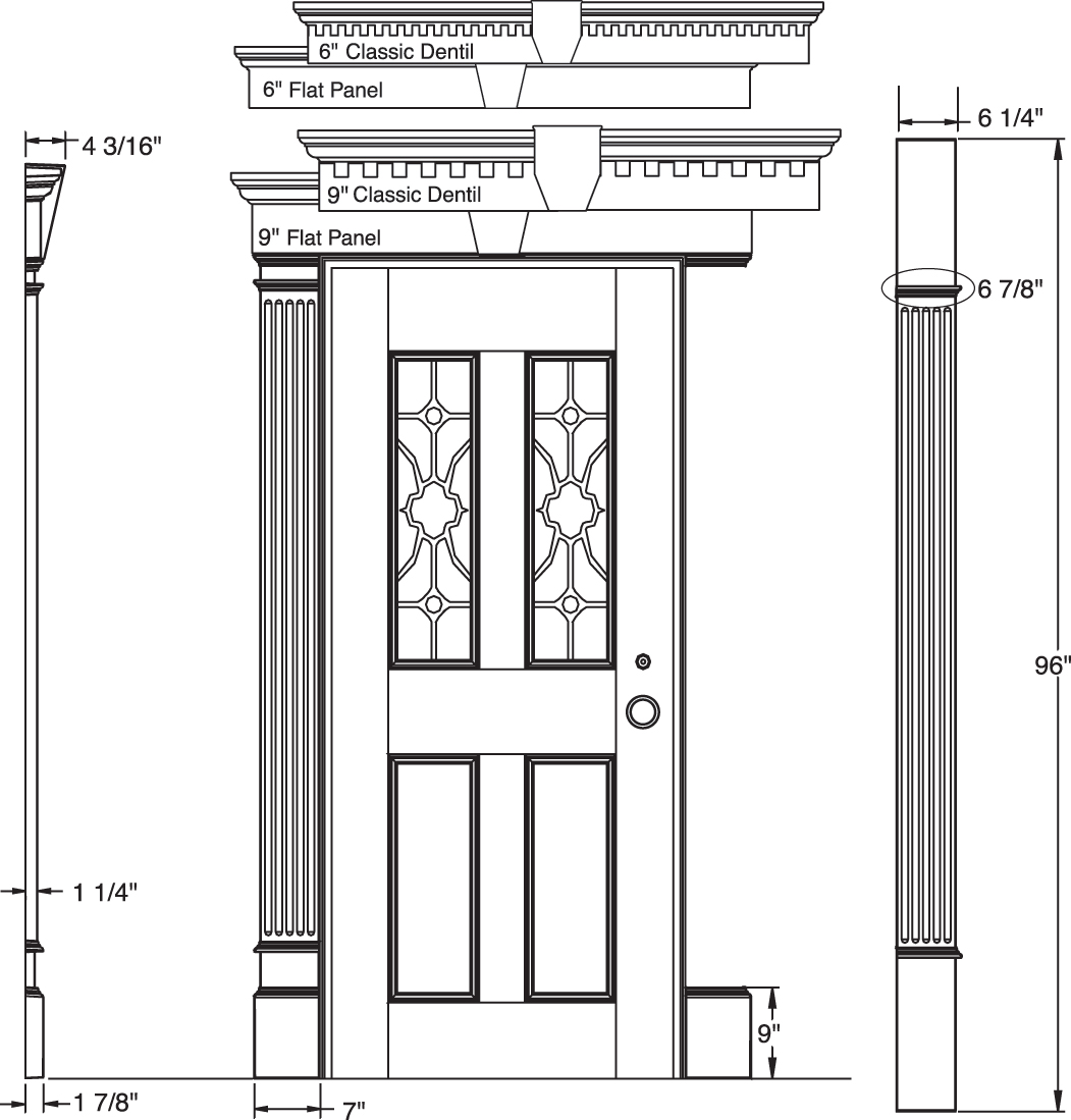 Door Pilasters A Classical Pediment And Pilasters Runs The Risk Of Looking Overdone But Here